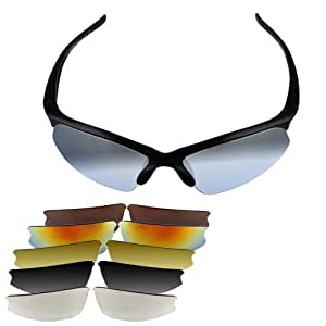 UV 400 Protection Glasses Sunglasses Sports Cycling NEW + 6 X Pairs of lenses