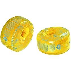 arena Kinder Unisex Schwimmflügel Schwimmhilfer Floating (Aufblasbar, Schaumstoff, EU-Sicherheitsstandard), Yellow-Martinica (37), One Size