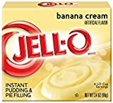 Jell-O Banana Cream Pudding and Pie Filling 96g