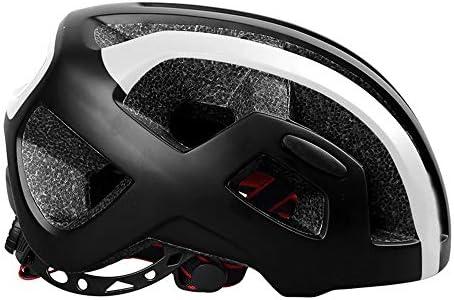new concept 19558 029e2 GLH Casco Casco Casco da Ciclismo Monopezzo da Uomo e da Donna  equipaggiamento di Sicurezza per Bici da Strada Bici da Mountain Bike  (Coloreee nero) ...