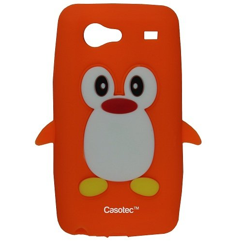 Casotec Penguin Silicone Jelly Back Case Cover for Samsung Galaxy S Advance i9070 - Orange  available at amazon for Rs.125