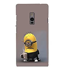 printtech Minions Coffee Working Back Case Cover for One Plus Two ::One Plus2