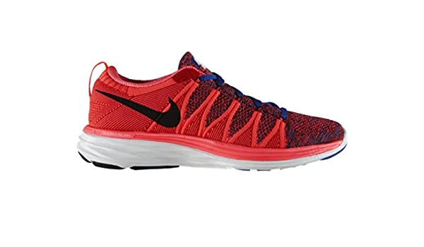buy online ff2c3 ba519 Nike Flyknit lunar2 Mens Running Trainers 620465 602 Sneakers Shoes (UK 9  US 10 EU 44) Red Black White  Buy Online at Low Prices in India - Amazon.in