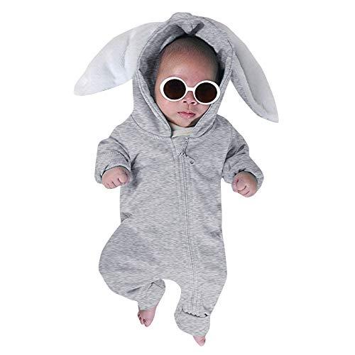 i-uend 2019 New Baby Overall - Neugeborene Kinder Baby Jungen Mädchen Outfits Sets Bodysuit Kaninchen Hoodie Strampler Kleidung Für 3-24 Monate