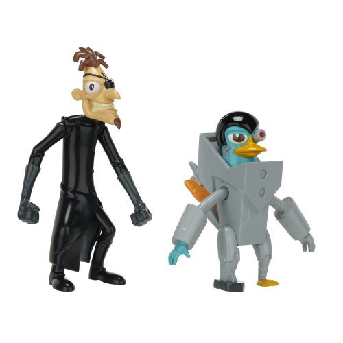Phineas And Ferb Figure Pack Assortment 5 - DCOM Platyborg And Dr. Doof (With Launching Fist)
