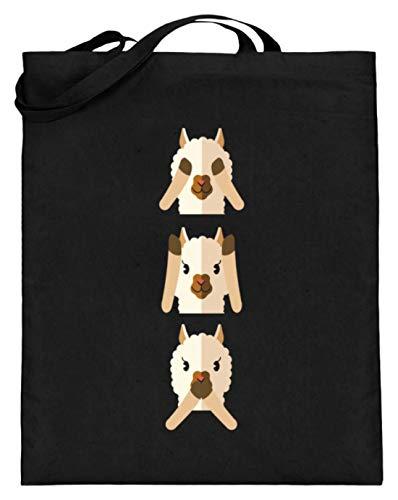 Chorchester Ideal für Tier und Alpaka Fans - Jutebeutel (mit langen Henkeln) -38cm-42cm-Schwarz -
