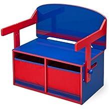 Delta Children 3en 1Banco de almacenamiento y escritorio (Azul/Rojo)