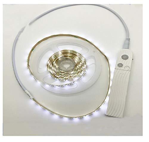 SIMGULAM LED-Bewegungsmelderleuchten Lichtstreifen-Stufenleuchten Batteriebetriebene Lichterketten 6ft 90 LEDs Closet Lights,whitelight