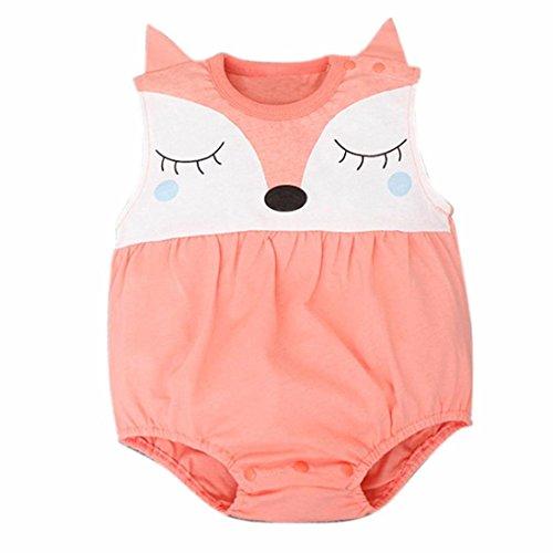 Covermason Bebé, Amlaiworld Niños Niñas Recién nacido del bebé de Zorro Mono Trajes 0-24 Mes (0-6 Mes, Naranja)
