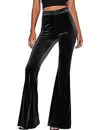 a658c91fb Rinalay Mujer Moda Primavera Pantalon Elasticos Mujer Party Terciopelo Fit  De Cintura Otoño Pantalon Taille Elastische