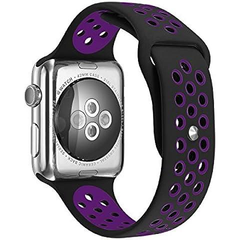 Per Apple Watch Serie 1Serie 2morbido silicone Sport Bracciale cinturino braccialetto cinturino di ricambio con (Formula 1 Womens Watch)