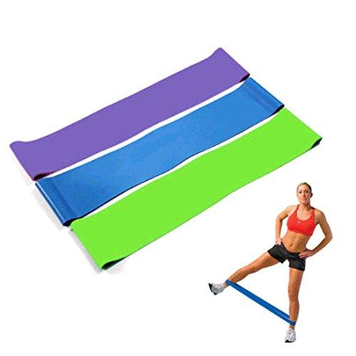 Prevently Fitnessbänder Trainingsbänder Fitnessbänder Set Stärken by Ideal für Muskelaufbau Physiotherapie Pilates Yoga Gymnastik und Crossfit   Fitnessband Gymnastikband Widerstandsbänder (Zufällig)