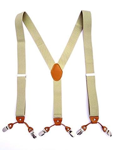 Lakebirds-Neutral sling adjustable Y Trouser Braces Suspenders, Unisex, Men and