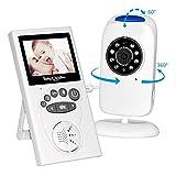 Baby Monitor, 2,4 GHz Wireless Audio Video Babyphone con Fotocamera Digitale, 2,4 pollice LCD Schermo, Visione Notturna, Walkie Talkie, Monitoraggio della Temperatura, Ninnananna e Luce Ambientale