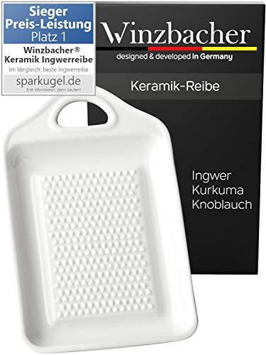 Winzbacher® Premium Rallador - de Cerámica para Jengibre y Ajo | Porcelana | Apto para lavavajillas...