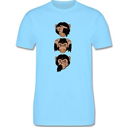Statement Shirts - Drei Affen - Sanzaru - Herren Premium T-Shirt Hellblau