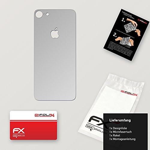 """Skin Apple iPhone 7 """"FX-Velvet-Black"""" Designfolie Sticker FX-Chrome-Glossy-Silver"""