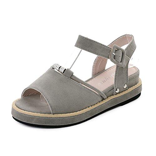 Freizeit,dicken sohlen,student schuhe/flach,mittleren heels,ein wort schnalle weibliche sandalen-A Fußlänge=23.3CM(9.2Inch) (Ted Baker-flache Sandalen)