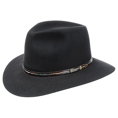 leisure-time-cappello-in-feltro-akubra-traveller-cappello-di-feltro-63-cm-nero
