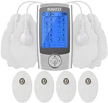 AVANTEK Electroestimulador Digital Masaje TENS/ EMS 2 Canales y 10 Modos de Impulsos Aparato de Electroestimulación Nerviosa Transcutánea, 20 Niveles de Intensidad con Temporizador de 10-60 Minutos; Pantalla LCD