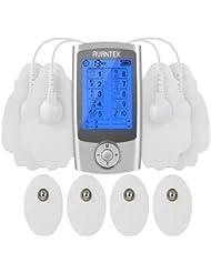 AVANTEK Électrostimulateur 2 Canaux avec 8 Électrodes 10 Modes de Massage Electrique 20 Niveaux d'Intensité Electrostimulation Electrothérapie TM-003