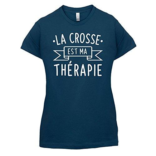La crosse est ma thérapie - Femme T-Shirt - 14 couleur Bleu Marine