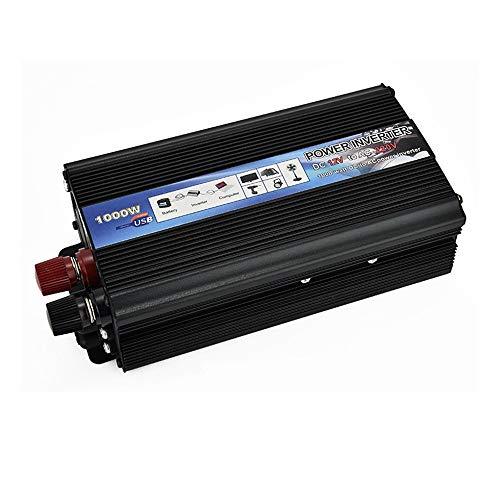 PBQWER Wechselrichter fur Fahrzeuge, 12V auf 230V, Stromwandler Inverter 1000 W Wechselrichter Auto PKW, Fahrzeugelektronik Pure Sinus-Wechselrichter Für Solarpanel,24v 110v