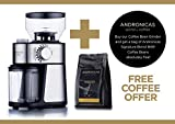 Andronicas Professional Coffee Bean Grinder Machine - Electric Burr Grinder Coffee Grinder Machine