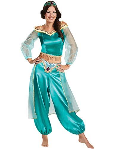 Kostüm Erwachsene Für Disney Jasmin - Fortuning's JDS® Frauen Halloween Partei Aladdin Prinzessin Kleid Kopf Band Cosplay Spiel Kostüm