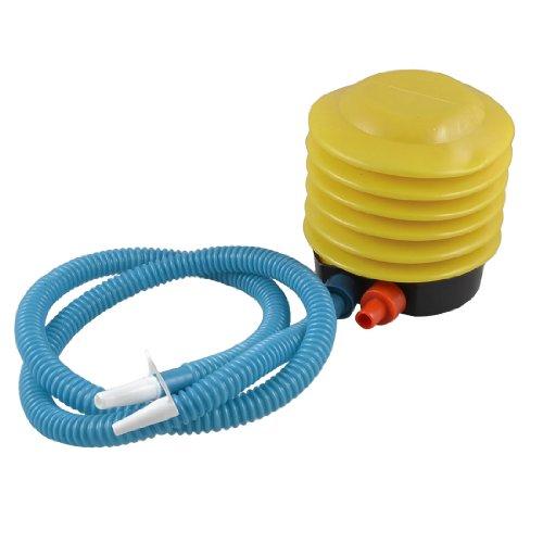 Flexibles Rohr Ballons Schwimmreifen Fuß Luftpumpe gelb blau, Hand Fuß Presse