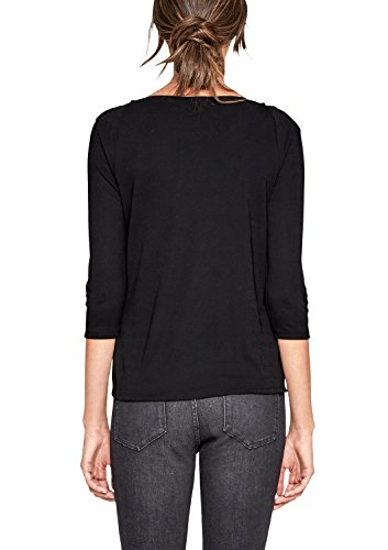 s.Oliver BLACK LABEL Damen Langarmshirt Black