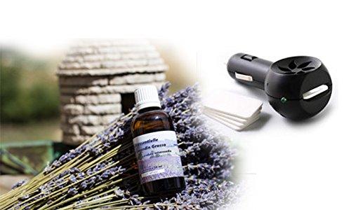 Diffusore olio essenziale per auto + 50ml Lavandin diretto produttore