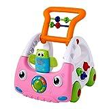 Gehhilfe Fur Babys,3 In1 Höhenverstellbar Spiel Anti-Rutsch Auto Activity Lauflernwagen Baby walker (Farbe : Pink)