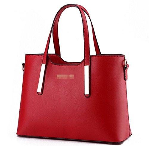 HarrowandSmith Damen Luxus Handtasche Frauen Schultertasche POCKET BOOK Geldbörse ideal für Weihnachten Geschenk, Rot - rot - Größe: Medium