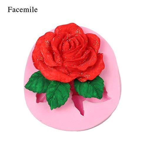 Fatalom - Molde de Silicona para Fondant y Chocolate, diseño de Rosas,...