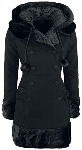 Hell Bunny Sarah Jane Coat Girl-Mantel schwarz M