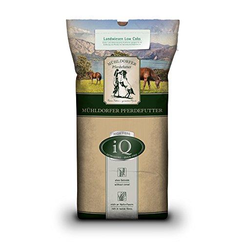 Mühldorfer Kraftfutter für Pferde mit Getreideunverträglichkeiten, Getreidefrei, iQ High-Fibre Low-Cobs, 20 kg
