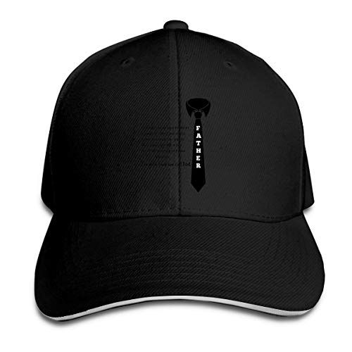 AllenPrint Unisex Baseball Cap, Moving Father's Day for Daddy Perfect Hat,Sport Hat,Personalized Hat Snapbacks for Outdoor Indoor Sporting Black -