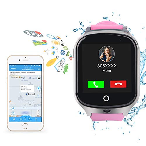 Kids Smart Watch Phone-GPS Tracker Waterproof Smart Wrist Watch with APP for Boys Girls SOS Camera 2G 3G Sim Card Touch Screen Game Smartwatch Outdoor Activities Toys Children's Day Gift