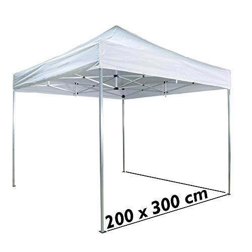Cablematic - Carpa plegable de aluminio 200x300cm blanca