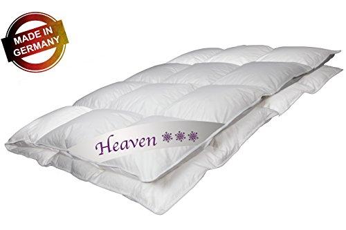 Luxus Daunendecke Heaven Made in Germany 135x200 cm mit 100% weißen Gänsendaunen Klasse 1 Winterdecke 840 g Bettdecke von Betten Jumbo