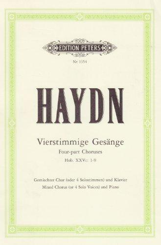 Vierstimmige Gesänge Hob. XXVc: 1-9: für gemischten Chor mit Klavierbegleitung