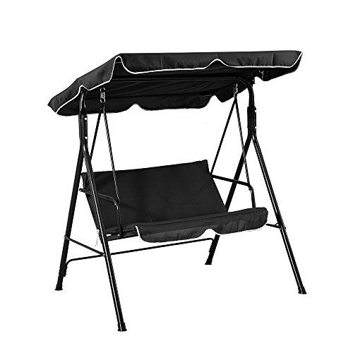 Ruication Keinode 2-Sitzer Schaukelstuhl Hängematte gepolsterte Sitzbank Bett Metallliege Baldachin Terrasse Garten Outdoor Kaffee -