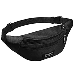 SUNNEY Bauchtasche für Damen und Herren, wasserdichte Gürteltasche mit Mehreren Taschen, verstellbarem Riemen, lässige…