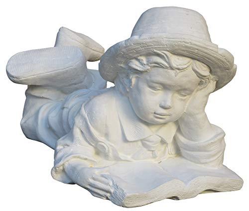 STONE art & more Lesendes Kind, Steinfigur, Steinguss mit Marmor, frostfest