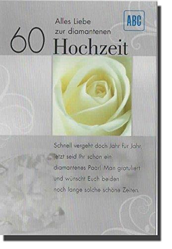 Gluckwunsche Zur Diamantenen Hochzeit Fur Karte Schnaeppchen Center