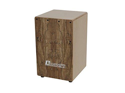 Set de 2 x Cajón para niños MARKELL, arce tachonado, marrón - Juego de cajones de percusión / Pack de cajones con funda - showking
