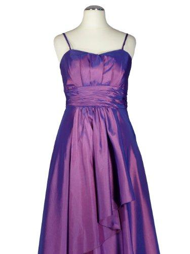 Samtlebe® - Taft Abendkleid elegant C642 1-teilig lang in Fuchsia Gr. 34 ...