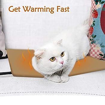 Qomolo Tapis Chauffant pour Chien Tapis pour Chien Lit pour Chat Lit électrique Couverture Sac de Couchage pour Chien Chat avec 7 Niveaux de température (40 * 30)