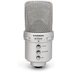 Samson SAM GM1U - Micrófono de condensador (de estudio, gran diafragma, conector USB)